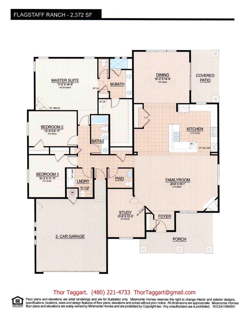 Miramonte 2372 flagstaff ranch real estate for Real estate floor plan pricing